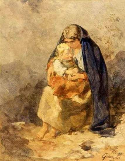 """Irish Poems for Mother's Day - Image is """"The Irish Mother"""" by Alfred Downing Fripp."""
