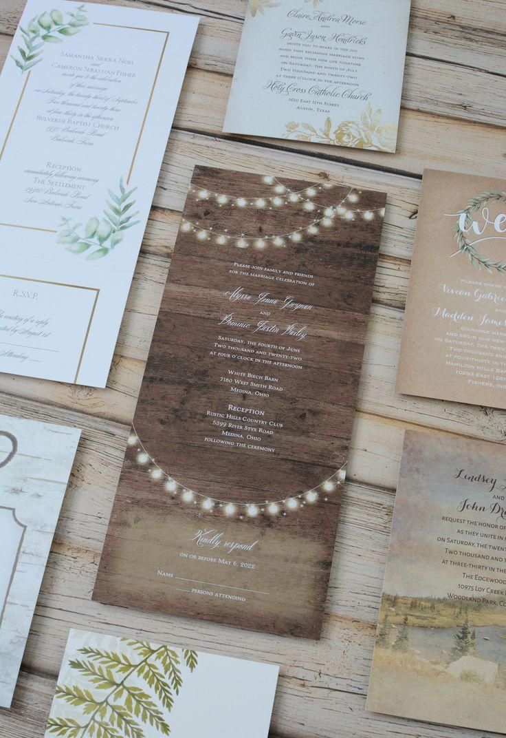 Cheap Rustic Wedding Invitations Set The Mood For Casual And Or Ou Wedding Invitations Rustic Casual Wedding Invitations Printable Wedding Invitations Vintage