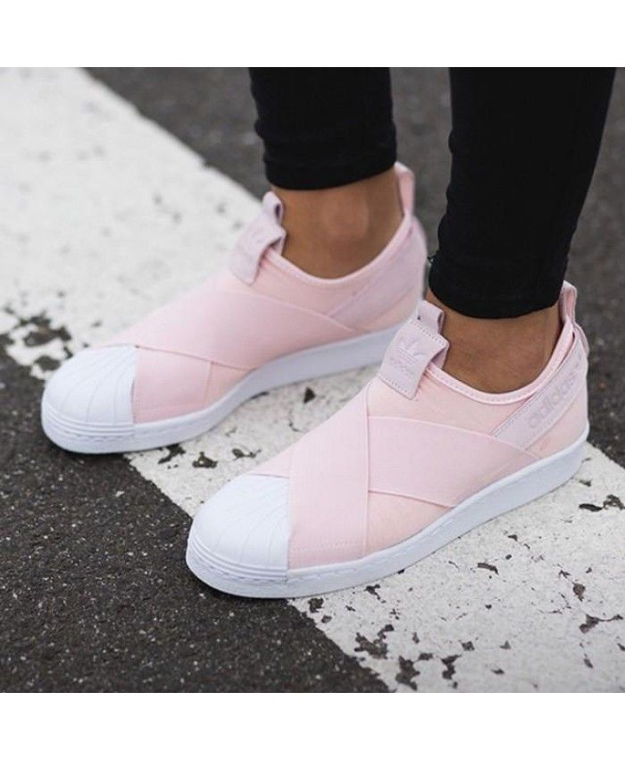 0eda9a12154 Adidas Superstar Slip On Light Pink Shoes Cheap Sale