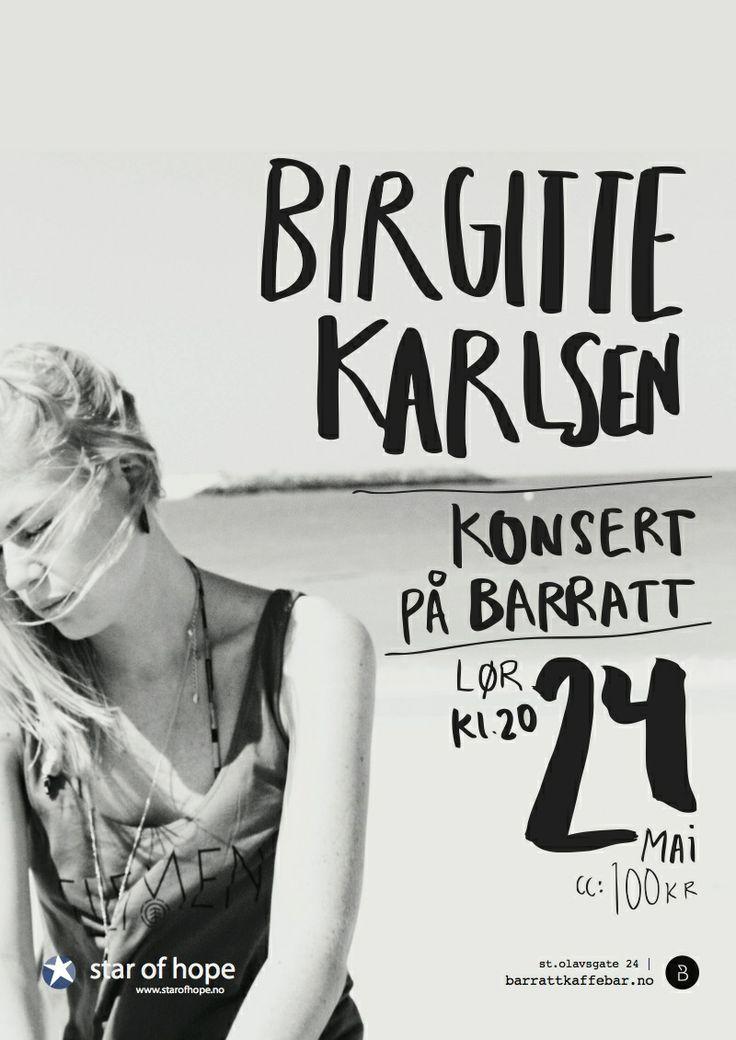 Birgitte Karlsen konsert, Barratt Kaffebar http://www.barrattkaffebar.no