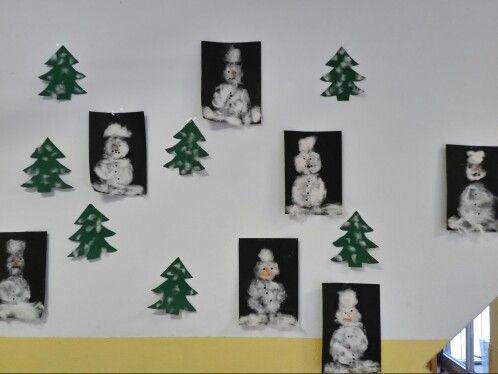 Schneemänner aus Watte  Χιονάνθρωπος από βαμβάκι Ιδιωτικός παιδικός σταθμός Μονάχου