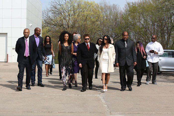 Family and friends gathered at Prince's Paisley Park compound for a private…