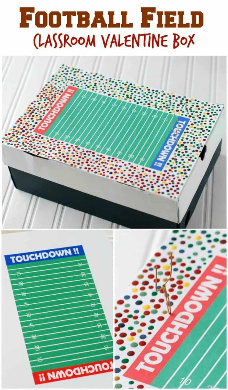 picture relating to Football Field Printable named Soccer Industry Clroom Valentine Box - at some point, a