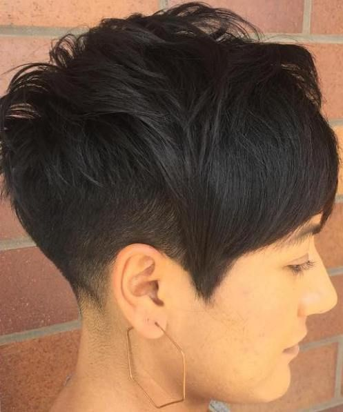 Asymmetrical Pixie With Side Fade