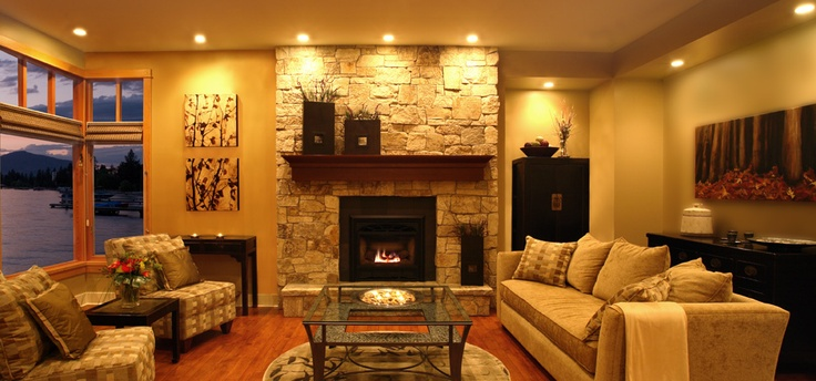 Gather your family and friends around this grand living room in Kelowna, BC