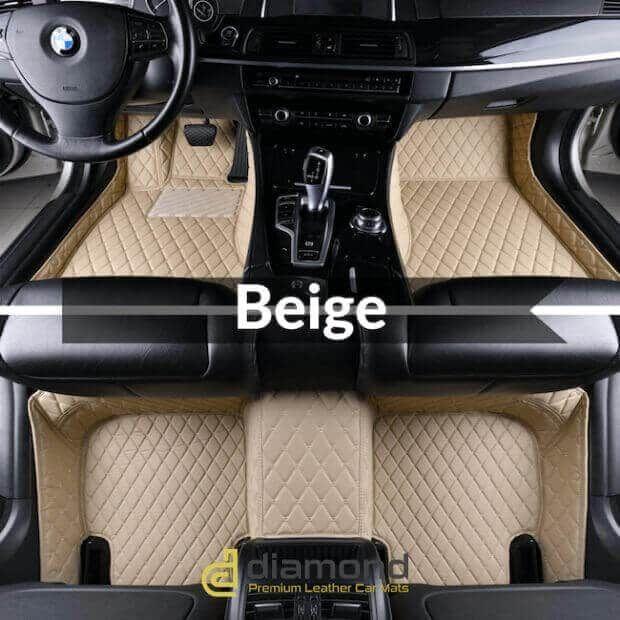 Beige Luxury Car Mats Set Car Mats Luxury Cars Car Floor Mats
