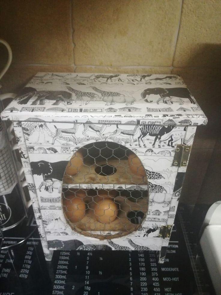 African decoupage Egg Holder
