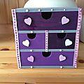 Boîte de rangement en bois customisée
