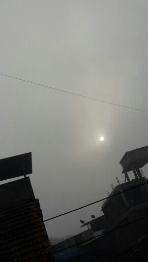 Morning click sun behind fog clicked by Samsung note 3