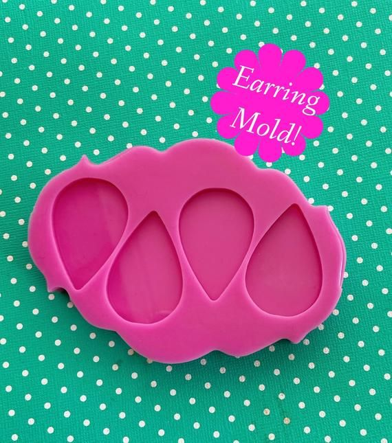 Silicone Mold Earrings Drop Jewelry Making Resin Polymer Clay.