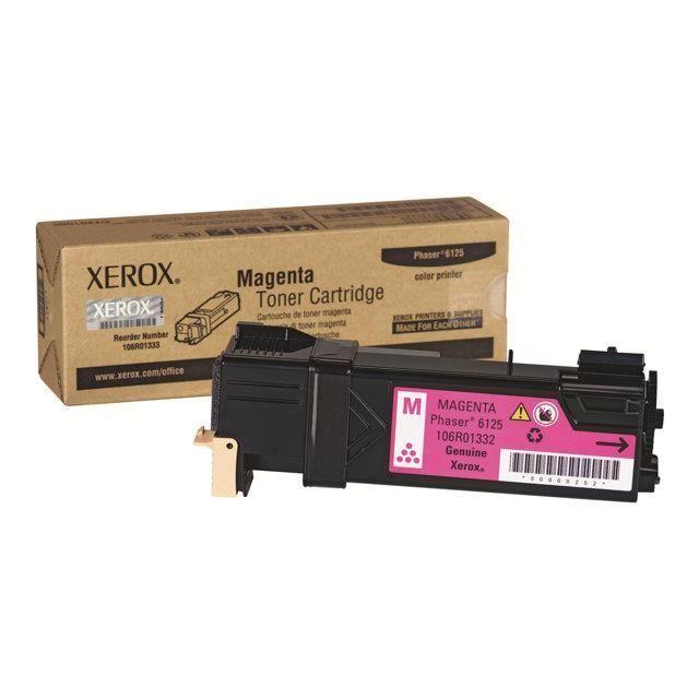 XEROX Cartouche de toner de toner PHASER 6125 – Magenta – Capacité standard 1.000 pages