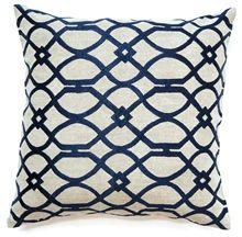 Geometric Curves Navy Cushion Boyd Blue
