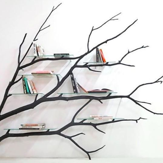 These tree branches that hold the most wondrous stories. | 24 Pieces Of Bookshelf Porn That Are Borderline NSFW