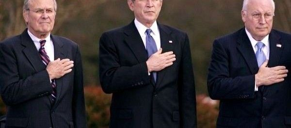 """Rumsfeld, Bush, Cheney - the Iraq war had zero justification - The declassified document reveals that there was """"no operational tie between Saddam and al Qaeda"""" and no WMD programs. http://yournewswire.com/declassified-cia-document-reveals-iraq-war-had-zero-justification/"""