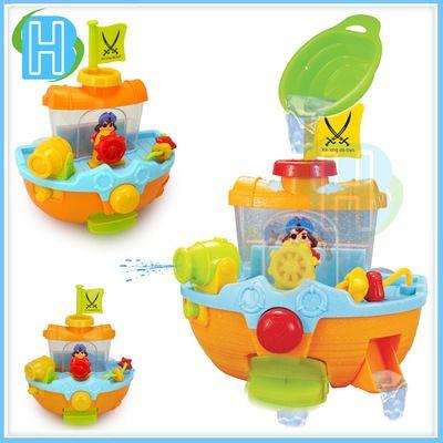 Купания водные игрушки детские игрушки ванны пират корабль курительного стене детские игрушки для купания