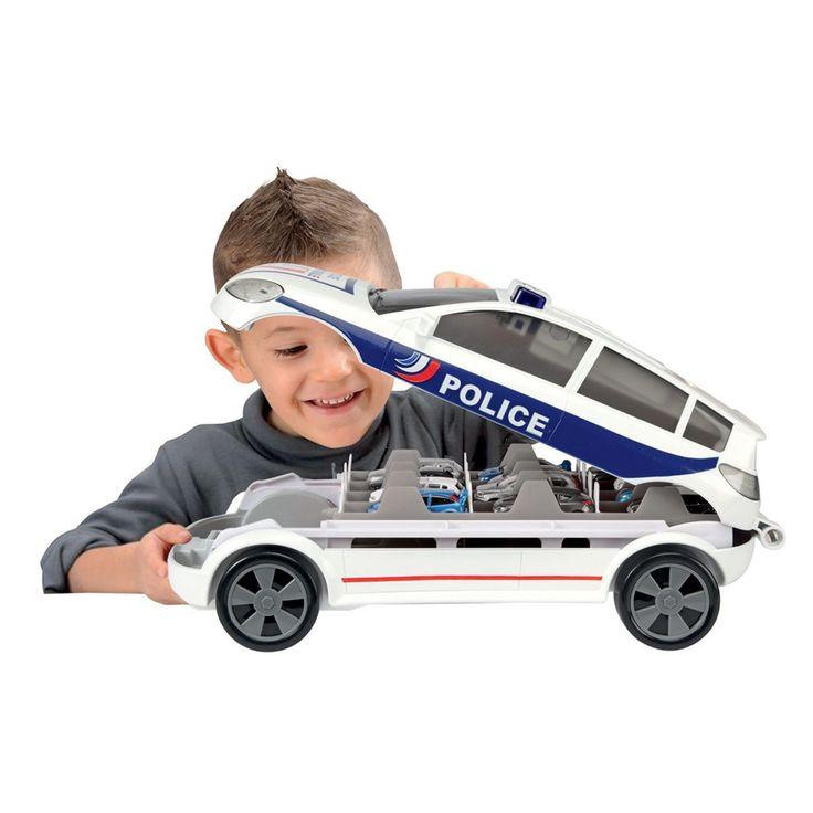 Carry car police Majorette et ses 5 voitures