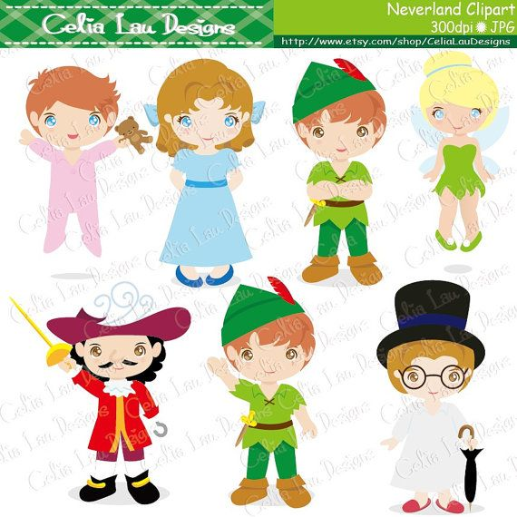 Neverland Digital Clipart/ Cute Peter Pan clip by CeliaLauDesigns, $5.00