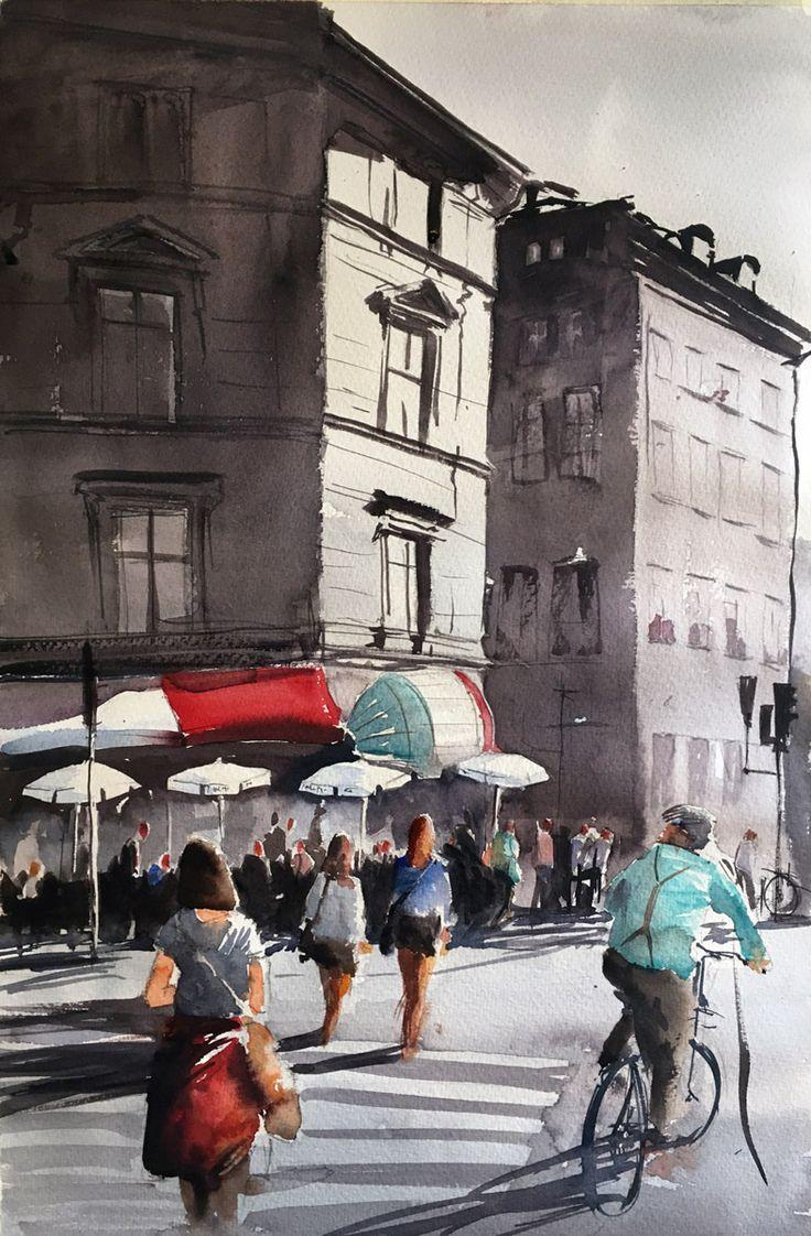 En solig dag i Stockholm. Stefan Gadnell, SÅLD