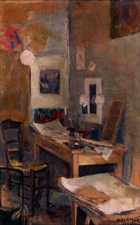 Akseli Gallen-Kallela, My first Room in Paris, 1884