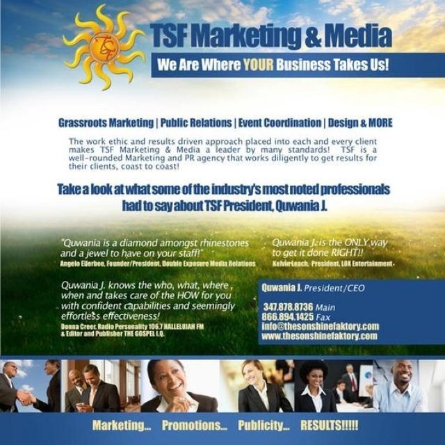 """We are where YOUR business takes us!"" #TSFMarketingAndMedia:  Internet Site,  Website, Web Site"