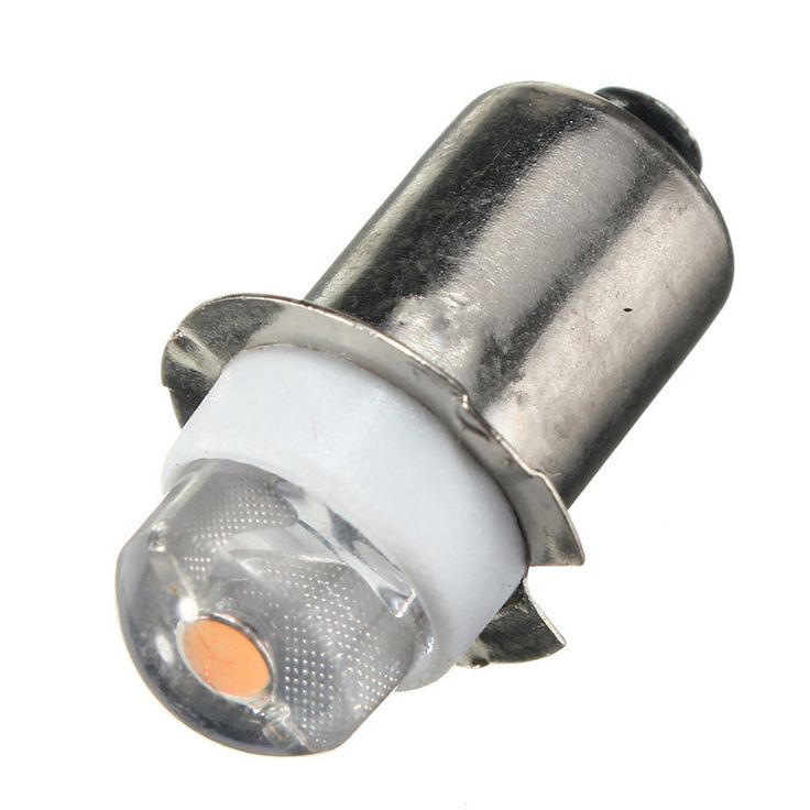 Terbaru PR2 P13.5S 0.5 W LED Untuk Fokus Senter Penggantian Bulb Kerja Cahaya Lampu Obor 60-100Lumen DC3V Murni Putih Hangat 6 V