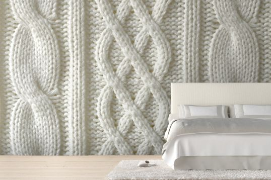 Cable knit wallpaper walldeco pinterest for Cache cable mural