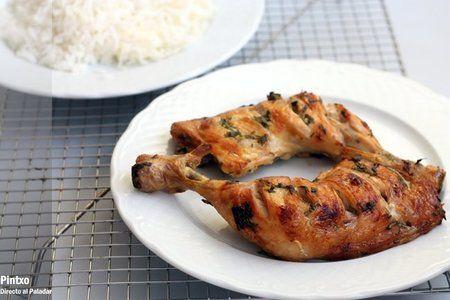 Receta de pollo adobado con cilantro y ajo