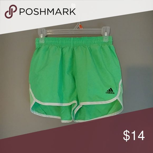 Adidas neon green shorts Size XS, worn but great condition.   (Lindsey) adidas Shorts