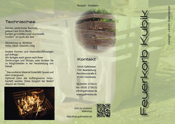 Der neue Flyer zu unserem Feuerkorb
