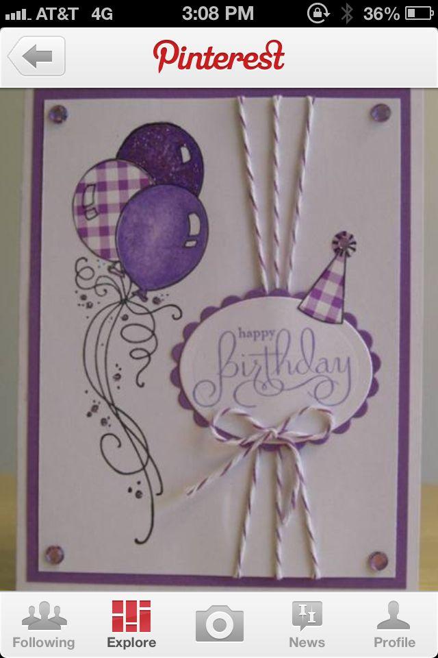 Purple birthday card