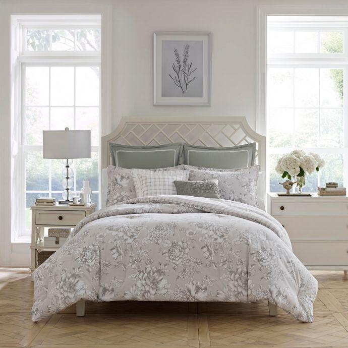 Laura Ashley Bridgette Reversible Comforter Set Bed Bath