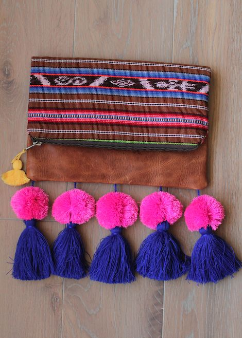 NO. 2 FOLD OVER TASSEL CLUTCH