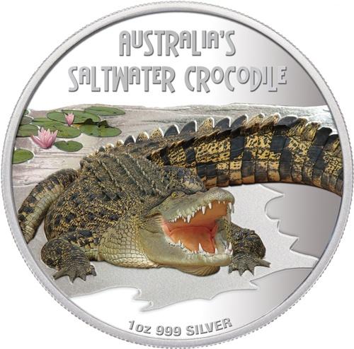 Deadly & Dangerous Saltwater Crocodile 1oz Silver Proof