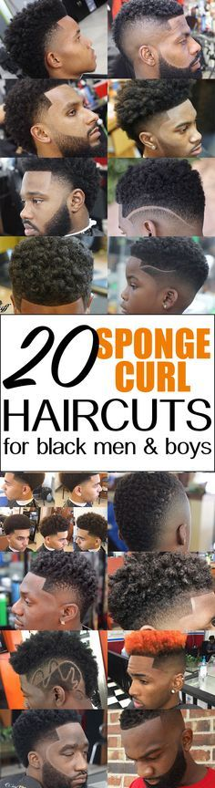 20 Hot Curl Sponge Twist Brush Haircuts for black men and boys