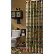 Trilhas do urso cortina de chuveiro