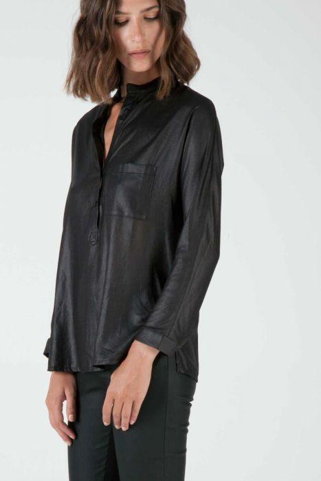 Banded collar blouse #despinavandicolletion