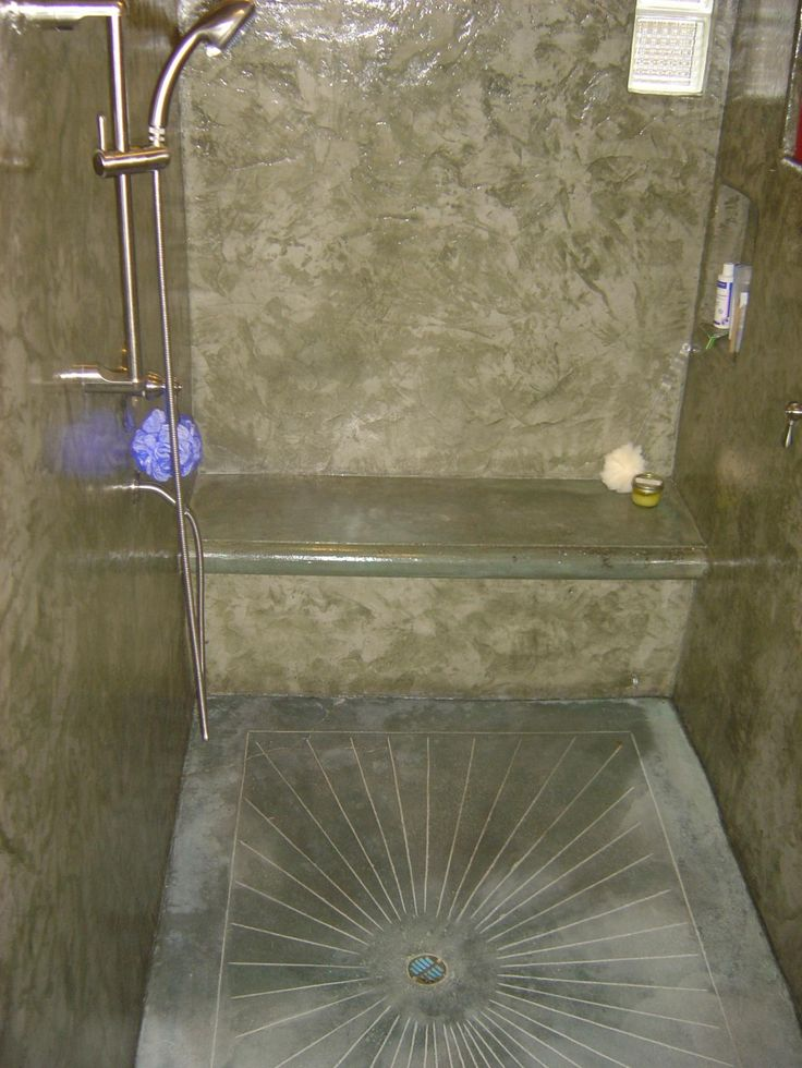 Concrete Shower Floor Concrete Shower Floor Custom