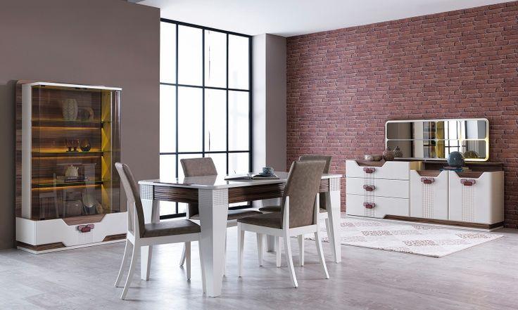 Estetik ve konforun ön planda tutularak tasarlandığı Kilyos Yemek Odası Takımı, çağdaş bir anlayış ve yaklaşımla modern stilin çarpıcı yorumunu gözler önüne seriyor.  #yemekodası #yemekodasi #tarz #tarzmobilya #mobilya #mobilyatarz #furniture #interior #home #ev #dekorasyon #şık #işlevsel #sağlam #tasarım #konforlu #livingroom #salon #dizayn #modern #rahat #konsol #follow #interior #armchair #klasik #modern