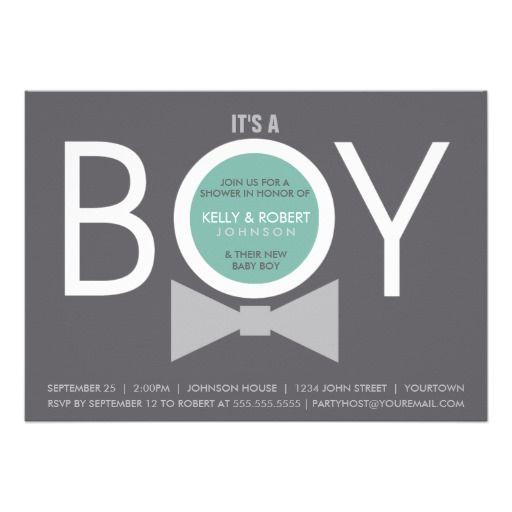 346 best Boy Baby Shower Invitations images on Pinterest