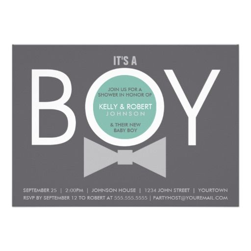 Baby Shower Invitations Wording For Boys: Modern BOY Baby Shower Invitations