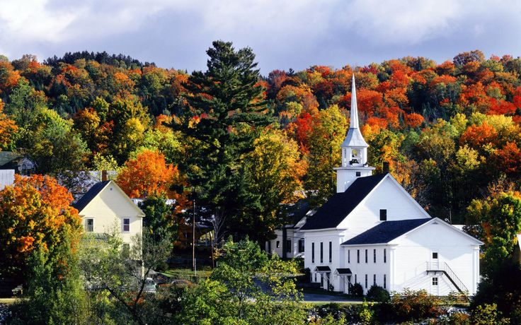 A New England scene in autumn, Vermont