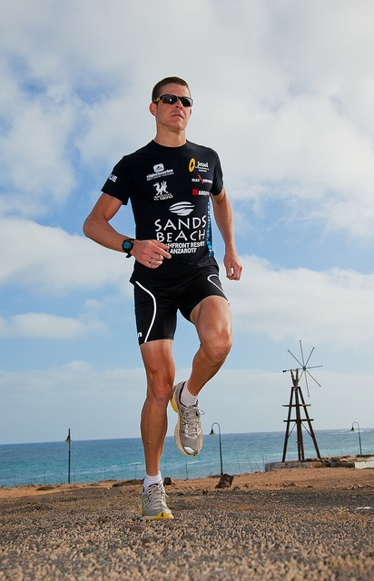 Triathlete Nico Ward is a sponsored Sands Beach Resort