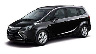 The Vauxhall Zafira Exclusiv in metallic Carbon Flash