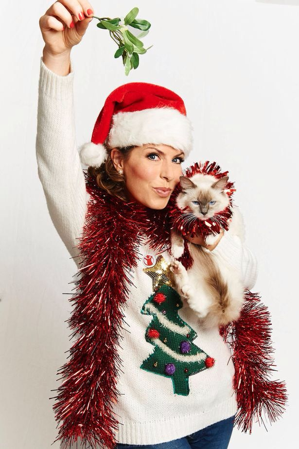 Celebrities In Ugly Christmas Sweaters Pa Natasha