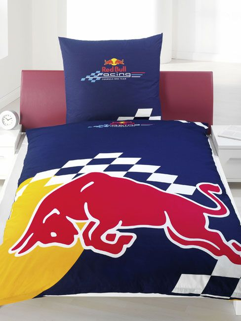 Formula One Racing Red Bull Logo Duvet Cover and Pillowcase 100% official merchandise. Machine washable. 100% Cotton. http://www.comparestoreprices.co.uk//formula-one-racing-red-bull-logo-duvet-cover-and-pillowcase.asp
