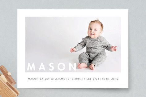 Simply Baby Birth Announcement Petite Cards by Susan Brown at minted.com
