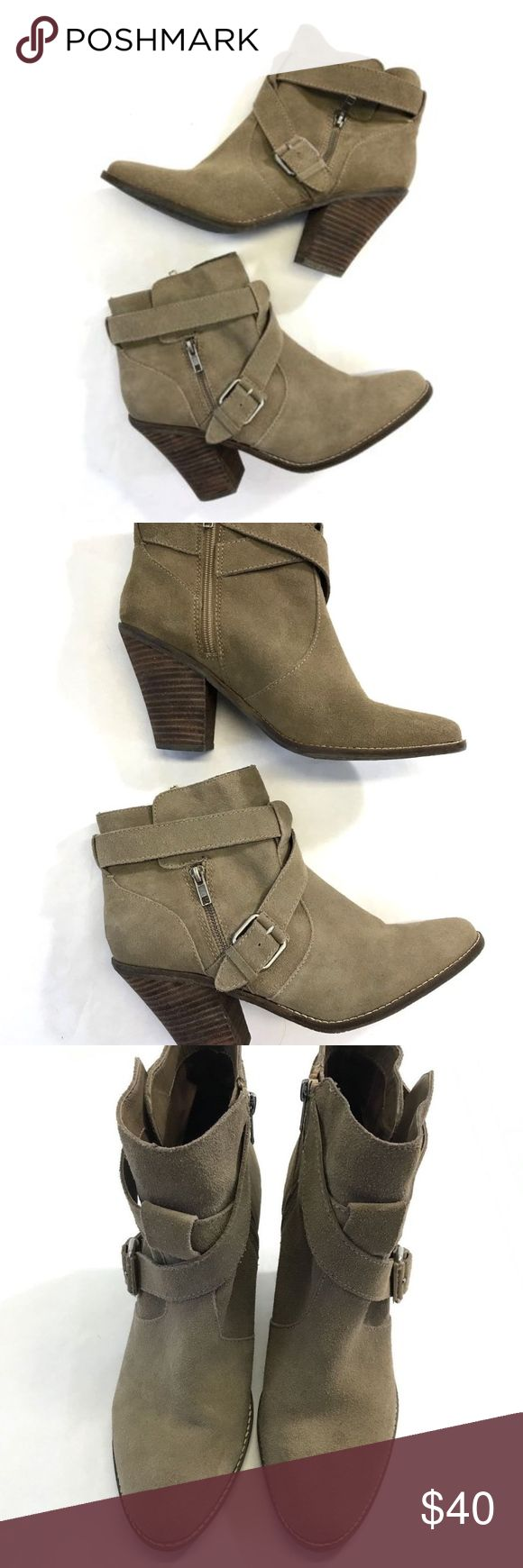 Dolce Vita DV Ankle Boots Taupe Suede Cuban Heel Dolce Vita DV Womens Ankle Boots 11 Taupe Suede Booties Strappy Cuban Heel Dolce Vita Shoes Ankle Boots & Booties