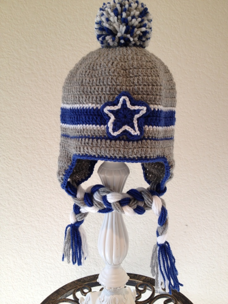 Cowboys crochet baby hat! Etsy/foryouandmedesigns