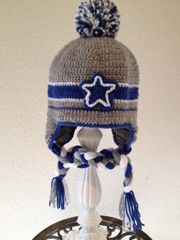 Cowboys crochet baby hat! Etsy/foryouandmedesigns