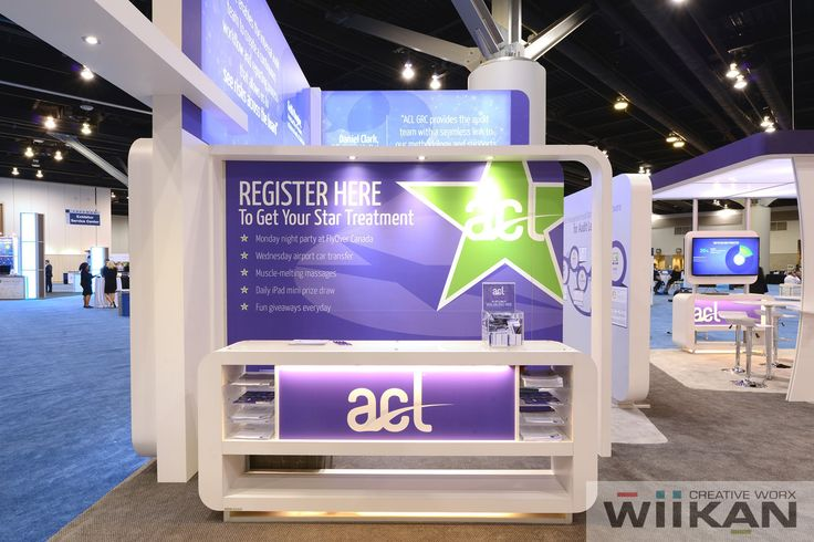 ACL Systems Ltd. - Reception Counter at 30x30ft booth at IAA 2015